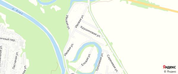 Розовая улица на карте садового некоммерческого товарищества N 14 с номерами домов