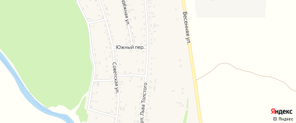 Улица Льва Толстого на карте села Половинкино с номерами домов