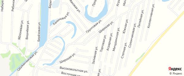 Широкая улица на карте Рубцовска с номерами домов