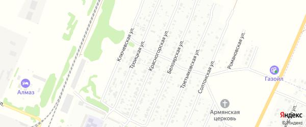 Красногорская улица на карте Рубцовска с номерами домов