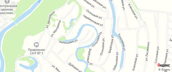Жасминовая улица на карте садового некоммерческого товарищества N 4 с номерами домов