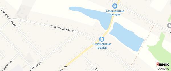 Спартаковская улица на карте села Романово с номерами домов