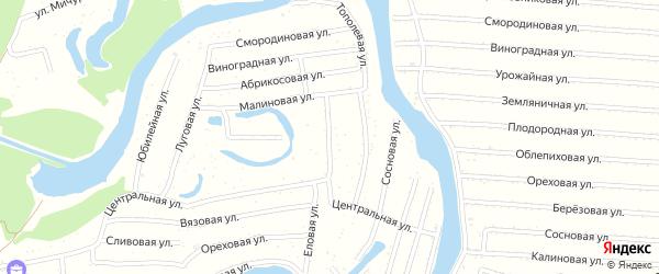 Облепиховая улица на карте садового некоммерческого товарищества N 14 с номерами домов