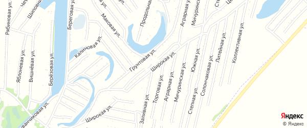 Перекрестная улица на карте садового некоммерческого товарищества N 3 с номерами домов