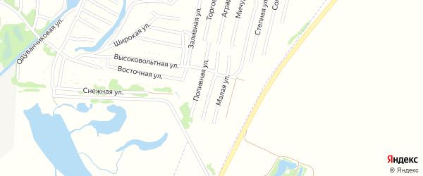 Тупиковая улица на карте садового некоммерческого товарищества N 3 с номерами домов