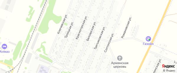 Белоярская улица на карте Рубцовска с номерами домов