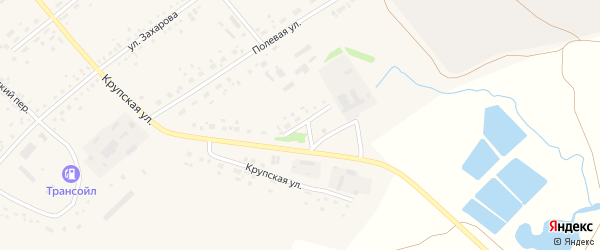 Заводская улица на карте села Романово с номерами домов
