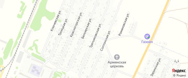 Третьяковская улица на карте Рубцовска с номерами домов