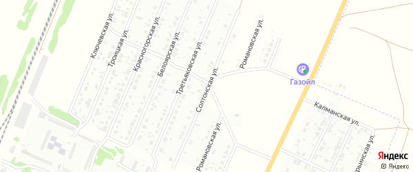 Солтонская улица на карте Рубцовска с номерами домов