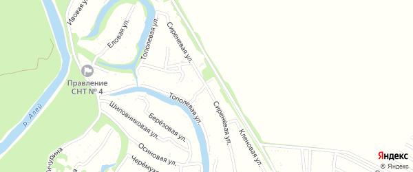 Сиреневая улица на карте садового некоммерческого товарищества N 4 с номерами домов