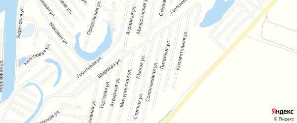 Степная улица на карте Рубцовска с номерами домов