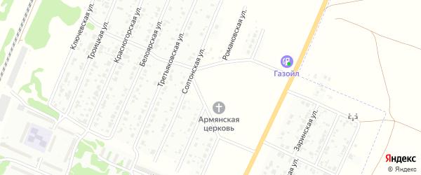 Романовская улица на карте Рубцовска с номерами домов