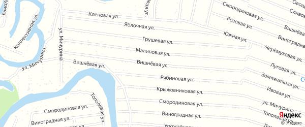 Вишневая улица на карте садового некоммерческого товарищества N 12 с номерами домов