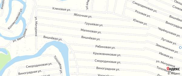 Вишневая улица на карте садового некоммерческого товарищества N 7 с номерами домов