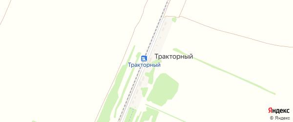 Железнодорожная улица на карте Тракторного разъезда с номерами домов