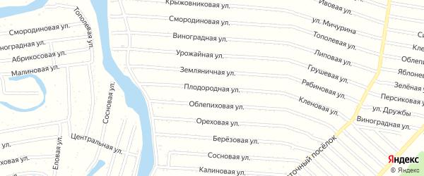 Плодородная улица на карте садового некоммерческого товарищества N 1 с номерами домов