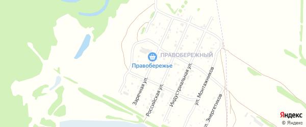 Заречная улица на карте Рубцовска с номерами домов