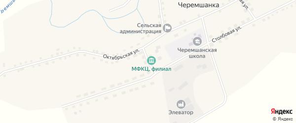 Центральный переулок на карте села Черемшанки с номерами домов