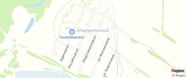 Индустриальная улица на карте Рубцовска с номерами домов