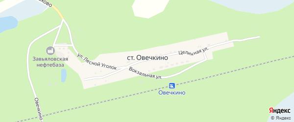 Улица Лесной уголок на карте станции Овечкино с номерами домов