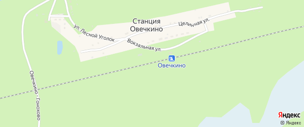 Вокзальная улица на карте станции Овечкино с номерами домов