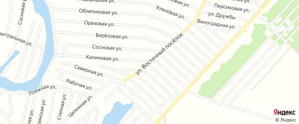 Улица Восточный поселок на карте садового некоммерческого товарищества N 1 с номерами домов