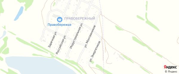 Улица Монтажников на карте Рубцовска с номерами домов