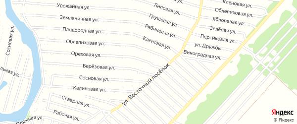 Короткая улица на карте садового некоммерческого товарищества N 12 с номерами домов