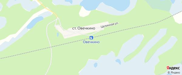 Карта станции Овечкино в Алтайском крае с улицами и номерами домов