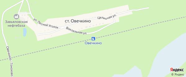 Целинная улица на карте станции Овечкино с номерами домов