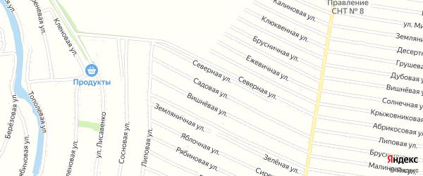 Садовая улица на карте садового некоммерческого товарищества N 14 с номерами домов