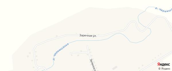 Заречная улица на карте села Черемшанки с номерами домов