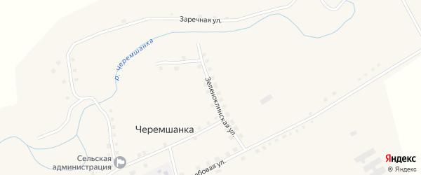 Зеленоклинская улица на карте села Черемшанки с номерами домов