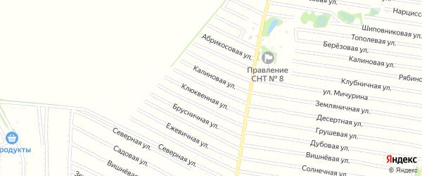 Клюквенная улица на карте садового некоммерческого товарищества N 7 с номерами домов