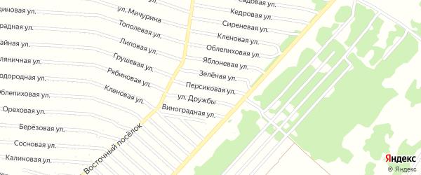 Персиковая улица на карте садового некоммерческого товарищества N 11 с номерами домов