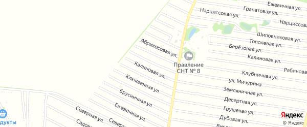 Черешневая улица на карте садового некоммерческого товарищества N 7 с номерами домов