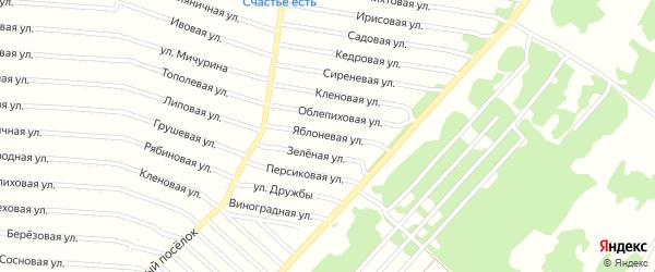 Яблоневая улица на карте садового некоммерческого товарищества N 18 с номерами домов