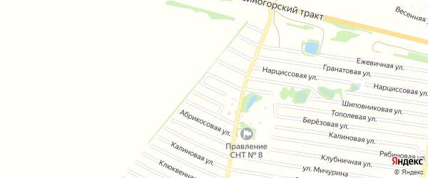 Лимонная улица на карте садового некоммерческого товарищества N 7 с номерами домов