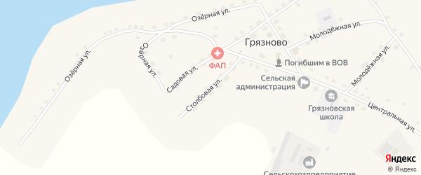 Столбовая улица на карте села Грязново с номерами домов
