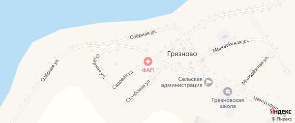 Садовая улица на карте села Грязново с номерами домов