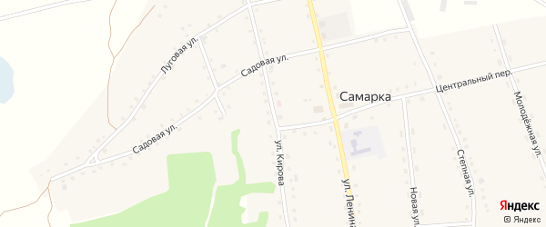 Улица Кирова на карте села Самарки с номерами домов