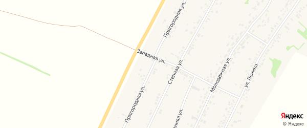 Пригородная улица на карте села Безрукавки с номерами домов