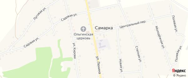Улица Ленина на карте села Самарки с номерами домов