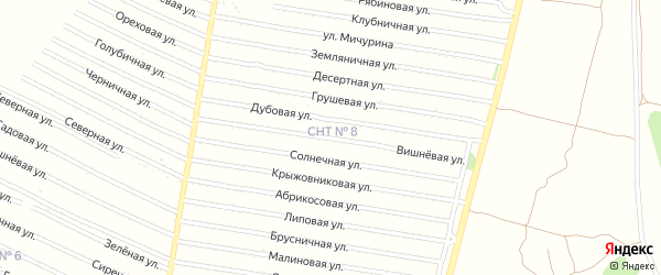 Вишневая улица на карте садового некоммерческого товарищества N 1 с номерами домов