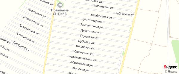 Грушевая улица на карте садового некоммерческого товарищества N 16 с номерами домов