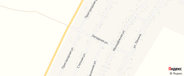 Степная улица на карте села Безрукавки с номерами домов