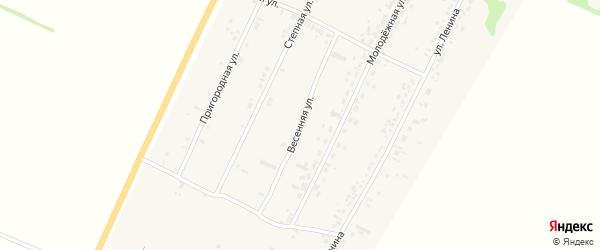 Весенняя улица на карте села Безрукавки с номерами домов