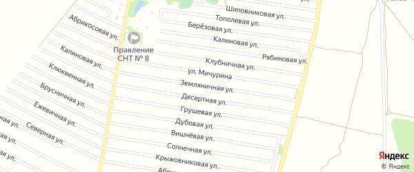 Земляничная улица на карте садового некоммерческого товарищества N 15 с номерами домов