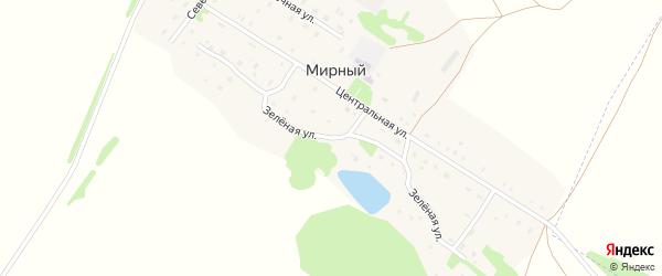 Зеленая улица на карте Мирного поселка с номерами домов