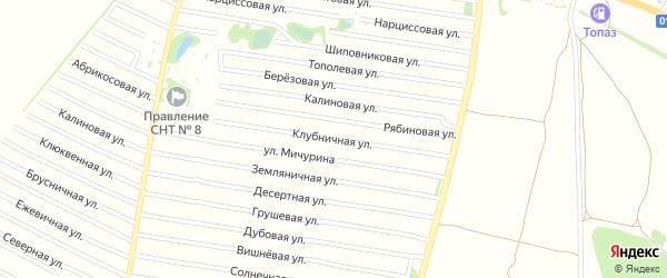 Клубничная улица на карте садового некоммерческого товарищества N 7 с номерами домов